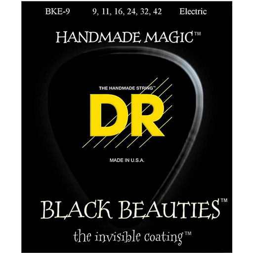 Dr Strings Black Beauties Electric Strings Black Coated- Lite - Bananas At Large®