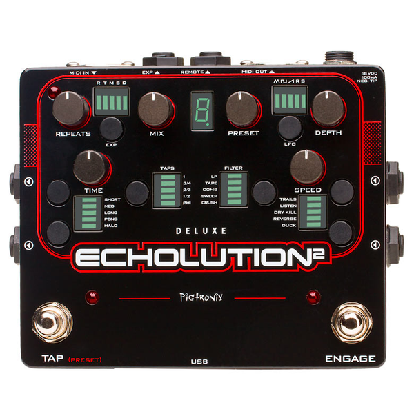 Pigtronix E2D Echolution 2 Deluxe Pedal - Bananas at Large