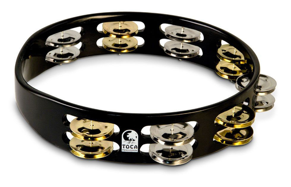 Toca TCT10-BK 10 in. Colorsound Tambourine - Black - Bananas at Large