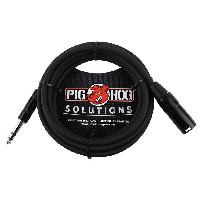 Pig Hog PX-TMXM2 10ft TRS(M)-XLR(M) Balanced Cable - Bananas at Large