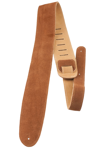 Perri's P25S-200 2.5 in. Natural Suede Guitar Strap