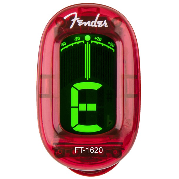 Fender California Series Clip-On Tuner - Candy Apple Red - Bananas at Large