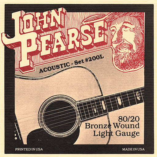 John Pearse 200L Light Bronze Wound Acoustic Guitar Strings - Bananas At Large®