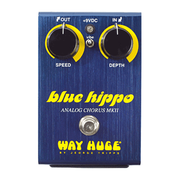 Way Huge Electronics WHE601 Blue Hippo Limited Edition Chorus Pedal - Bananas at Large