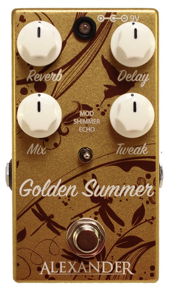 Alexander Pedals Golden Summer Reverb Echo Pedal - Bananas at Large