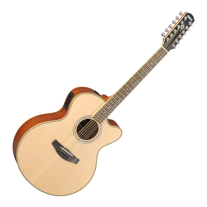 Yamaha CPX700II-12 700 Series 12 String Acoustic Electric Guitar - Natural - Bananas at Large
