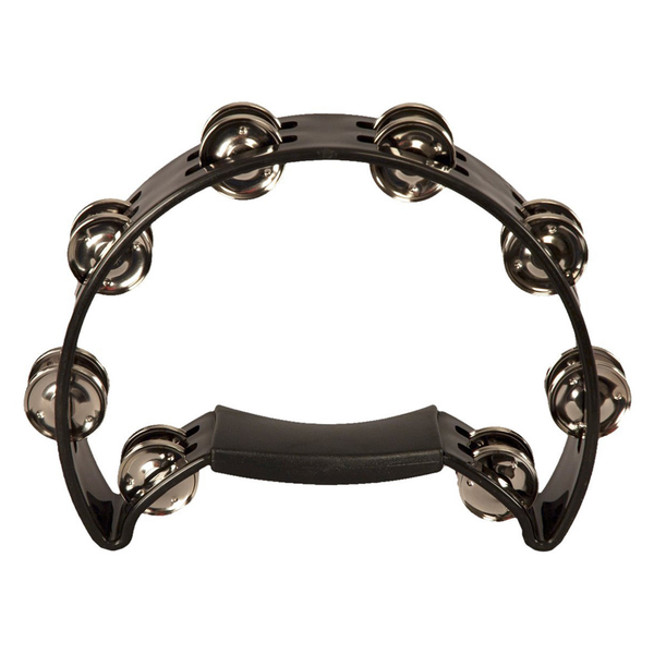Coda DP-140 Double Row Tambourine with Ergonomic Handle - Black - Bananas At Large®