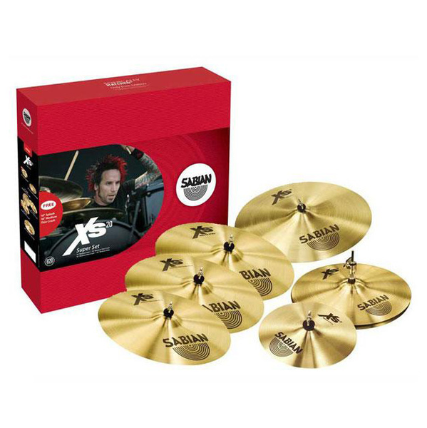 Sabian XS20 Super Set with Free 10 in. Splash and 18 in. Medium Thin Crash - Bananas at Large