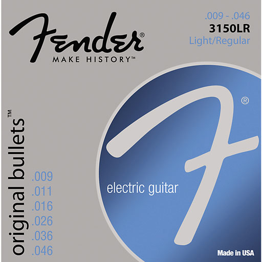 Fender 3150LR Original Bullets - Pure Nickel Bullet Ends Electric Guitar Strings Light Regular - Bananas At Large®