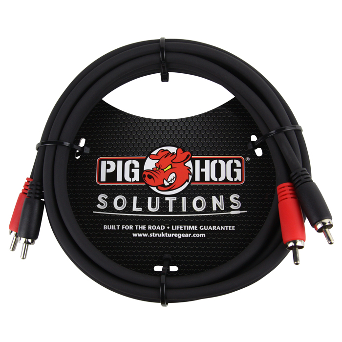 Pig Hog PD-RCA06 Solutions 6ft RCA - RCA Dual Cable - Bananas at Large