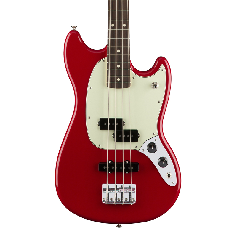 Fender Mustang Bass PJ with Rosewood Fingerboard - Torino Red - Bananas At Large®