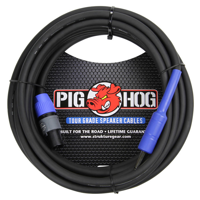 Pig Hog PHSC25S14 25ft Speaker Cable, SPKON to 1/4 in. - Bananas at Large