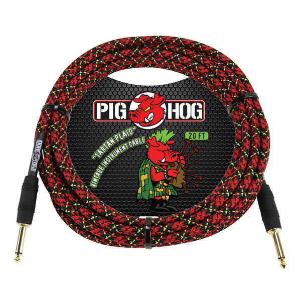 Pig Hog PCH20PL Tartan Plaid 20 ft. Instrument Cable - Bananas at Large