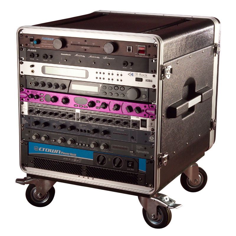 ATA Molded PE Rack w Casters Fits Under Gator GRC Series 10U 21 Deep - Bananas at Large - 1