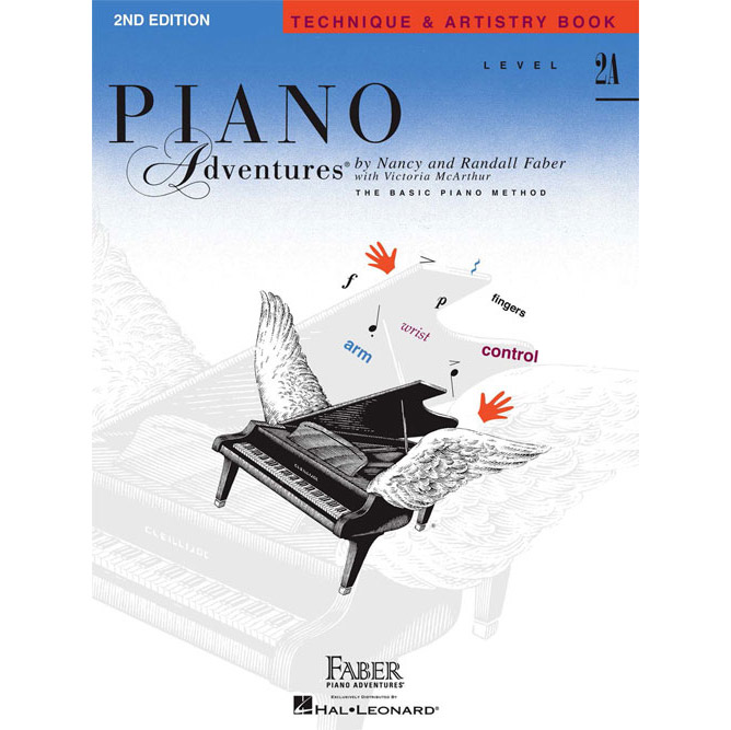 Hal Leonard Piano Adventures Level 2A Technique and Artistry Book 2nd Edition - Bananas At Large®