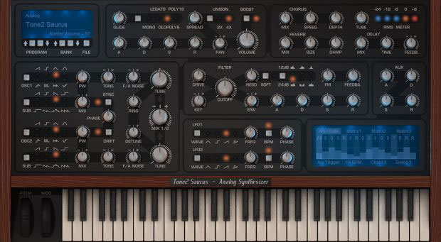 Tone 2 Saurus 2 Virtual Analog Synthesizer [Download] - Bananas at Large