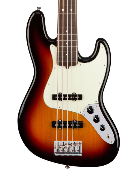Fender American Pro Jazz Bass V, Rosewood Fingerboard - 3 Color Sunburst - Bananas at Large - 1
