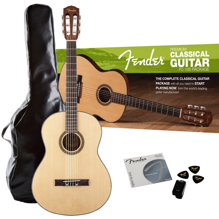 Fender FC100 Classical Guitar Pack - Bananas At Large®