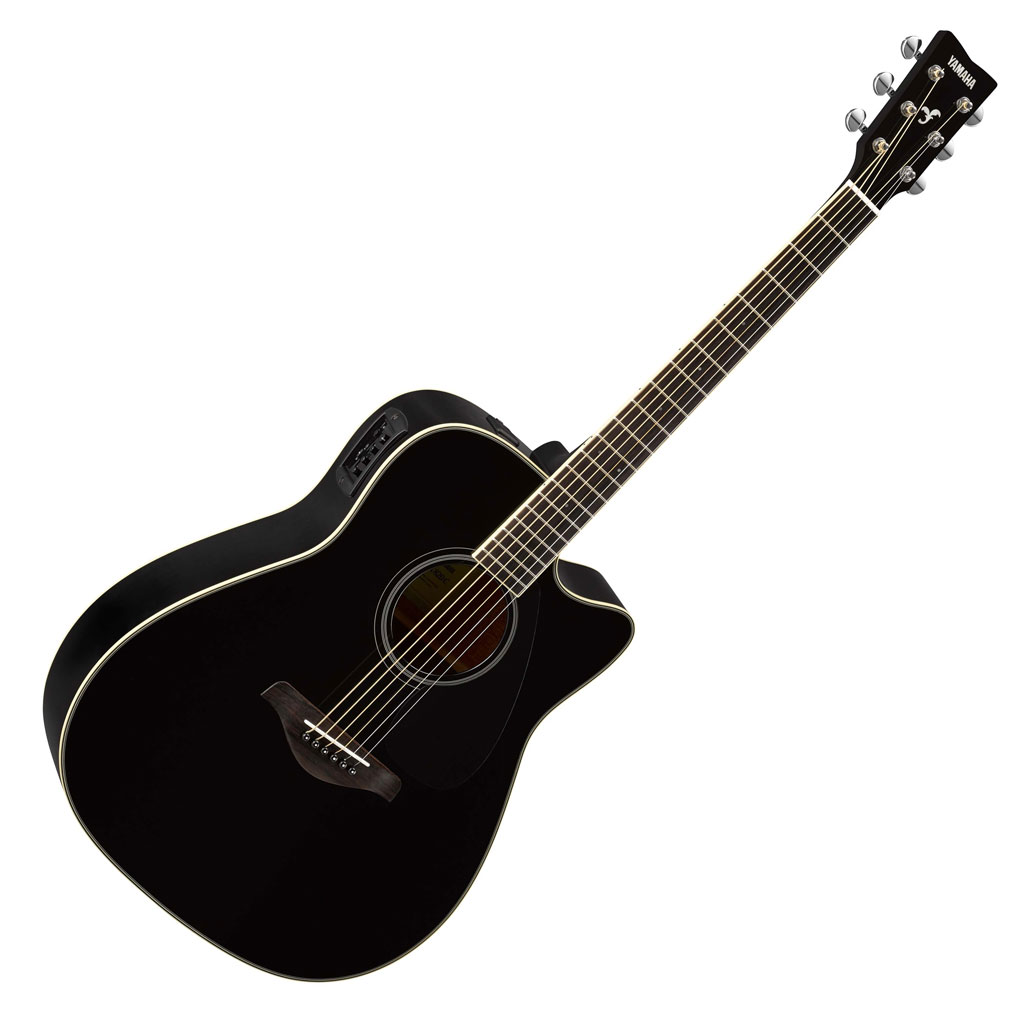 Yamaha FGX820C Acoustic Electric Guitar - Black - Bananas at Large