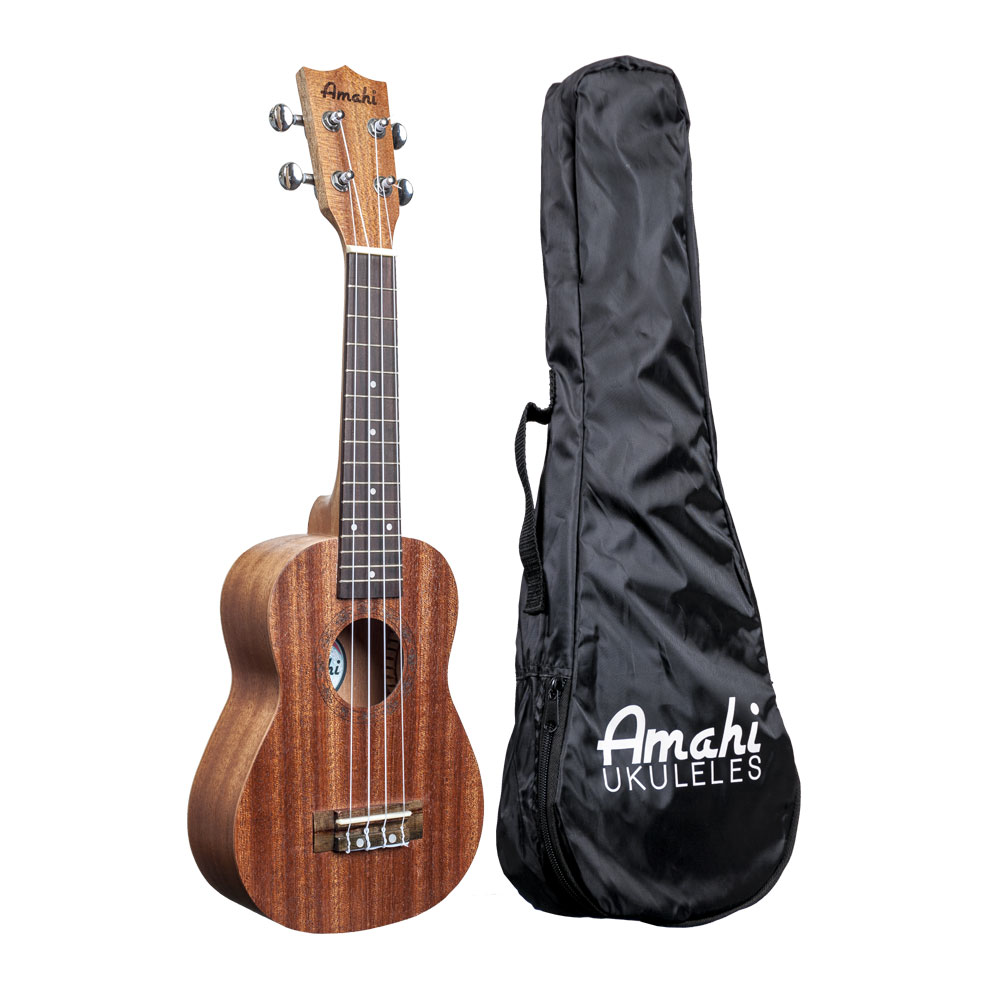 Amahi UK120S Soprano Traditional Shape Ukulele with Gig Bag - Bananas At Large®