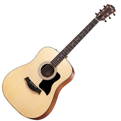 Taylor 110E Acoustic Electric Dreadnought Guitar with Gig Bag, ES2 - Bananas at Large