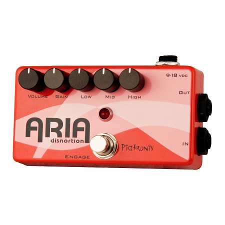 XES Aria Disnortion Diode Clipping Overdrive with 3-Band Active EQ Pedal - Bananas at Large