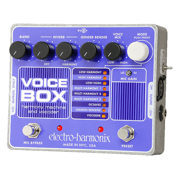 Electro-Harmonix VOICE BOX Harmony Machine and Vocoder - Bananas at Large