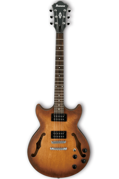 Ibanez AM73B Artcore Series Hollow Body Electric Guitar - Tobacco Flat - Bananas at Large