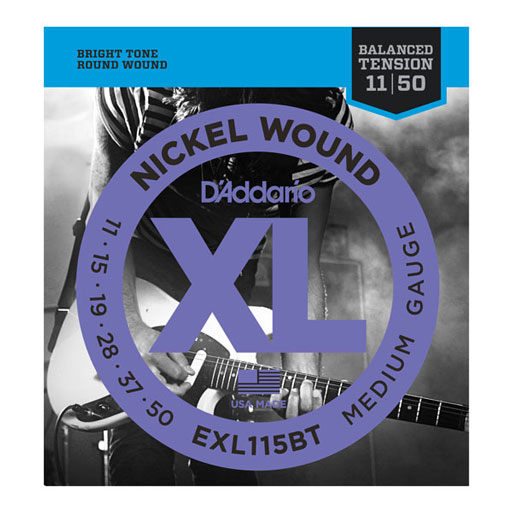 DAddario EXL115BT Electric Guitar Nickel Wound Strings Balanced Tension - Medium 11-50 - Bananas At Large®