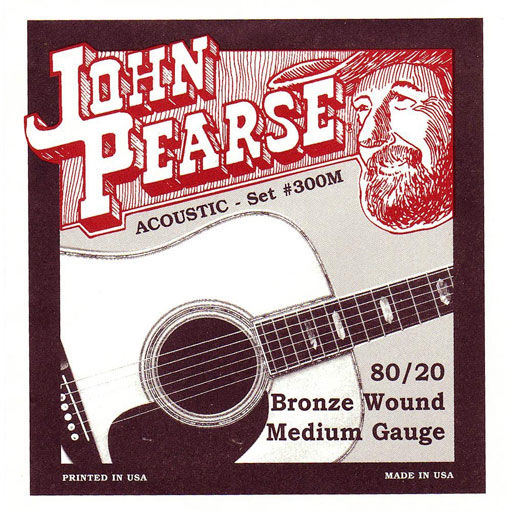 John Pearse 300M Bronze Wound Acoustic Guitar Strings - Medium - Bananas At Large®