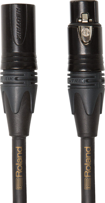Roland RMC-G10 Gold Series 10ft. Microphone Cable with Neutrik XLR Connectors - Bananas at Large