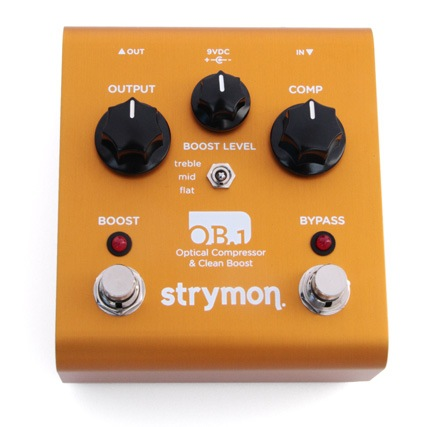 Strymon OB.1 Optical Compressor and Clean Boost Pedal - Bananas at Large