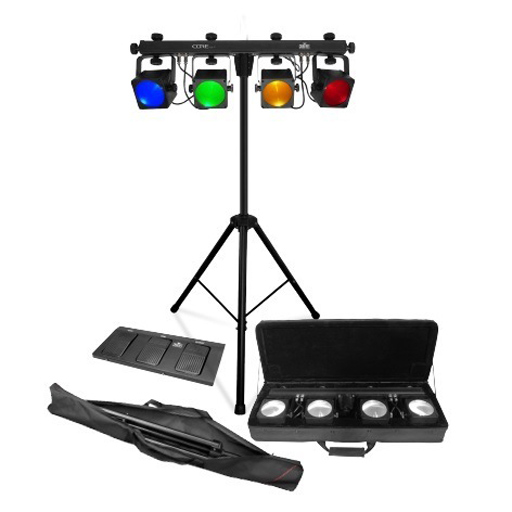 Chauvet COREbar 4 Includes Power Cord, Carry Bag, L-Brackets, Tripod, Tripod Carry Bag and Footswitch - Bananas At Large®