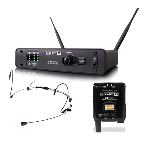 Line 6 XD-V55HS Digital Wireless System with Bodypack Transmitter and Headset, Black - Bananas at Large