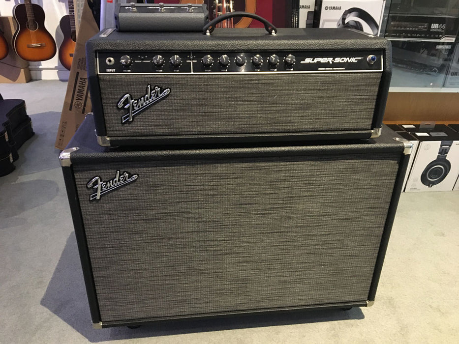 Fender Super Sonic Head and 2X12 Cabinet (Pre-Owned) (Tom Johnston Private Collection)