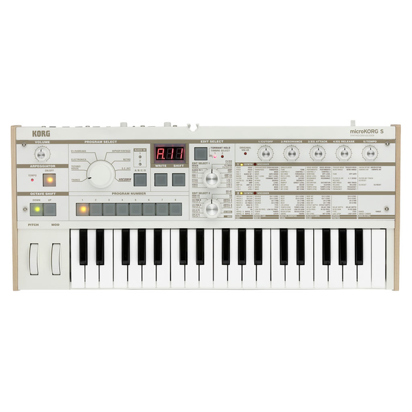 Korg MicroKorg-S Synth/Vocoder with Built-In Speakers - Bananas at Large - 1