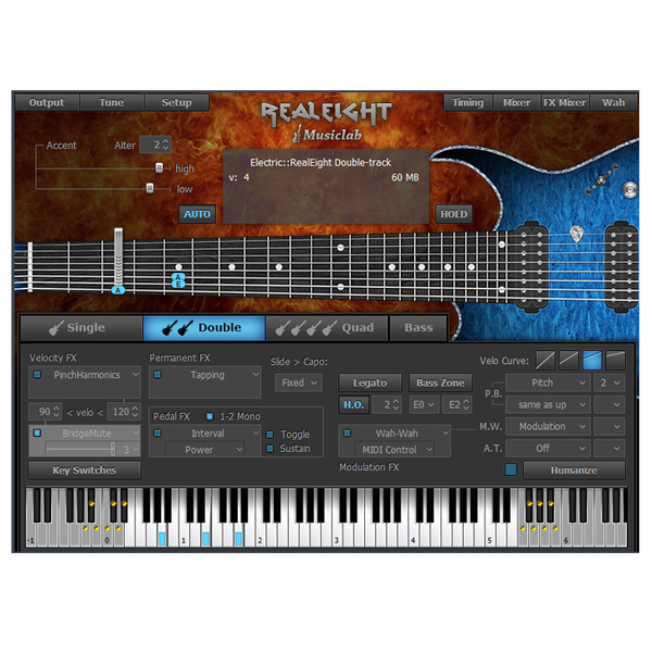 MUSICLAB 12-41398 MusicLab RealEight 8-string Elec Guitar Bass Instrument [Download] - Bananas at Large