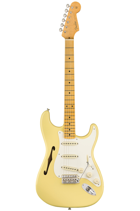 Fender Eric Johnson Thinline Stratocaster with Maple Fretboard - Vintage White