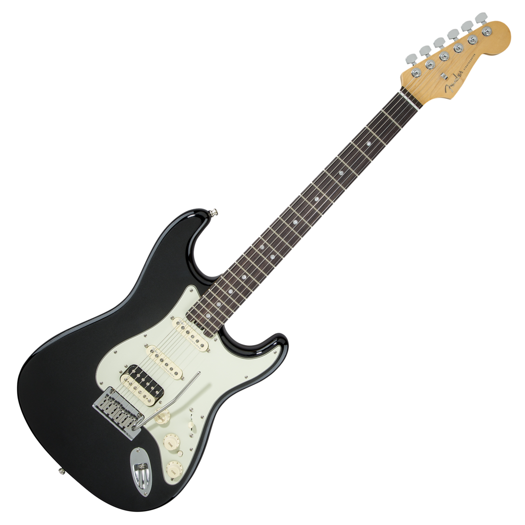 Fender American Elite Stratocaster HSS Shawbucker - Rosewood - Mystic Black - Bananas At Large®