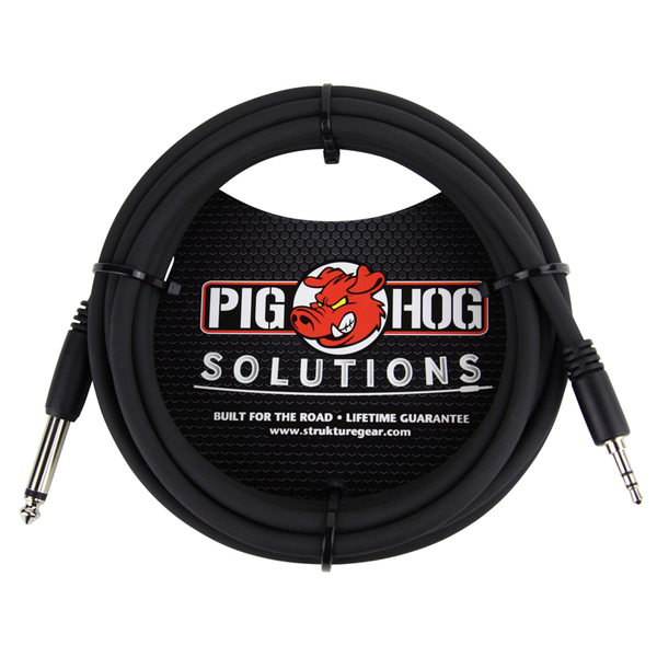 Pig Hog PX-35T4M Solutions 10ft 3.5mm TRS to 1/4 Mono Cable - Bananas at Large