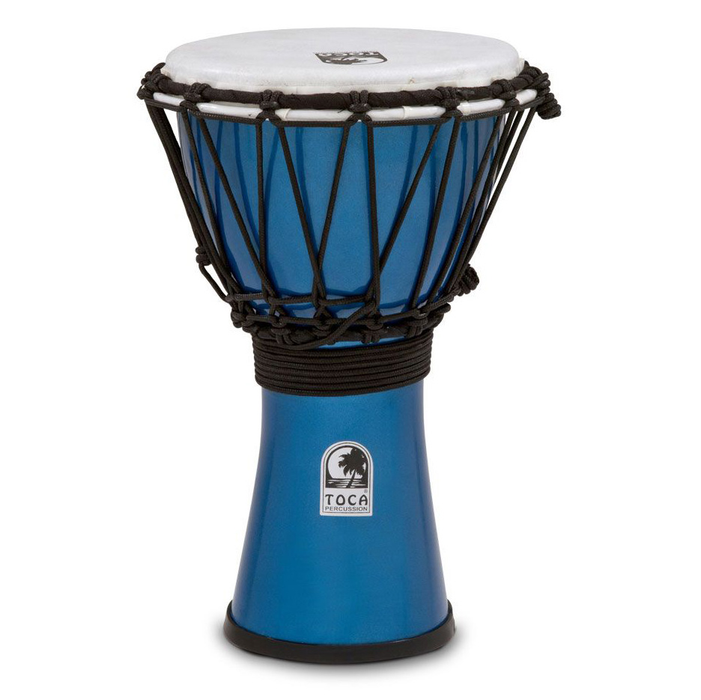 "Toca Freestyle Colorsound 7"" Djembe Metallic Blue"