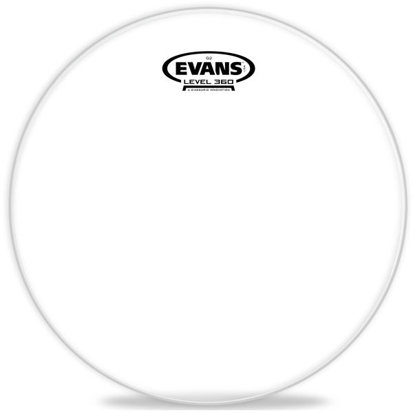 Evans TT12G2 12 in. Genera G2 Clear Snare/Tom/Timbale Head - Bananas at Large
