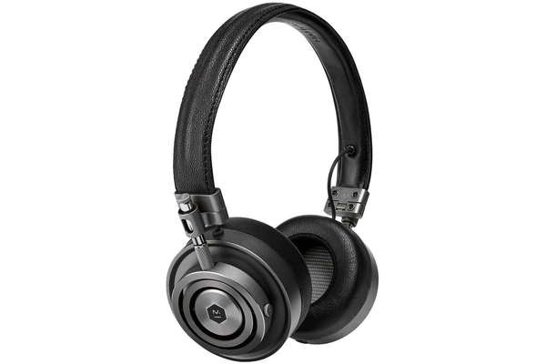 Master & Dynamic MH30G1 Foldable On Ear Headphones - Gunmetal/Black Leather