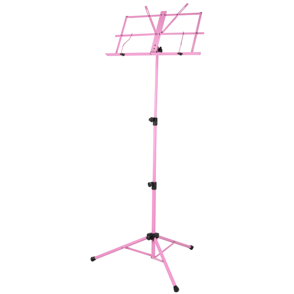 Strukture SMS1XPK Deluxe 3-part Adjustable Music Stand with bag - Pink
