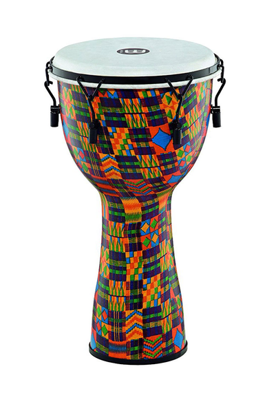 Meinl FMDJ2-L-F 12 in. Mechanical Tuned Fiberglass Djembe with Synthetic Head - Kenyan Quilt - Bananas at Large