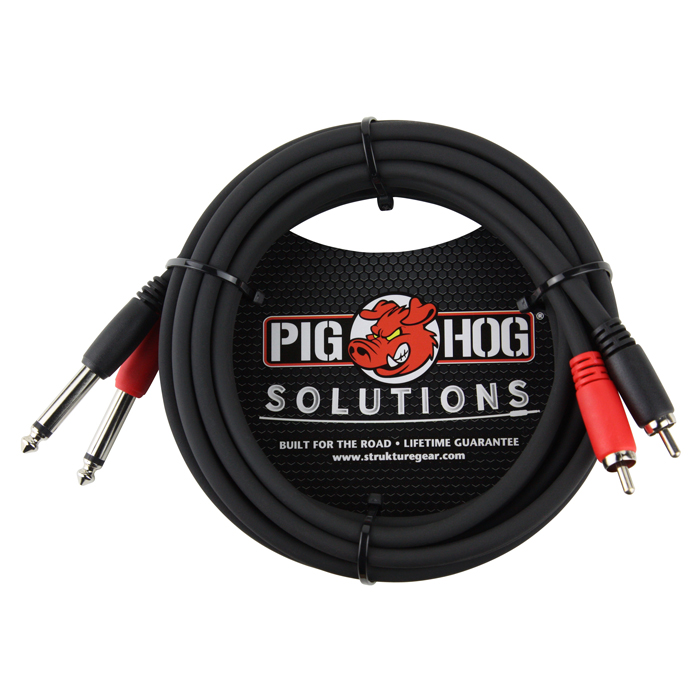 Pig Hog PD-R1410 Solutions 10ft RCA - 1/4 in. Dual Cable - Bananas at Large