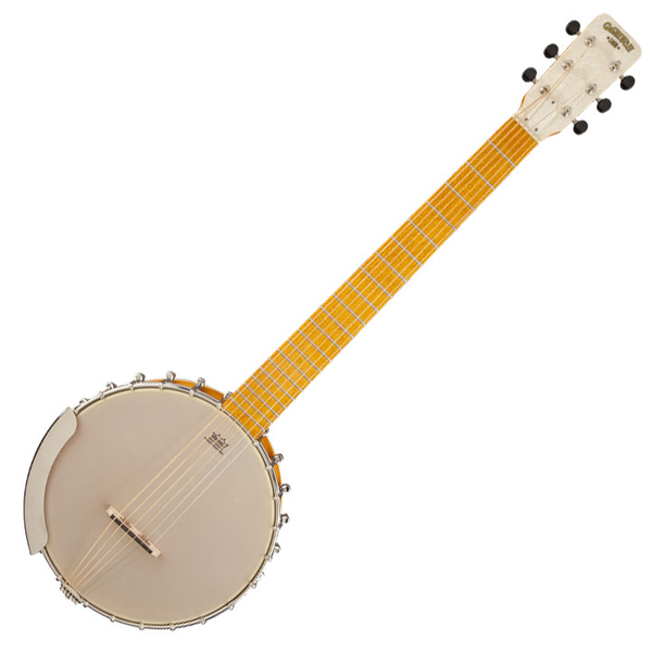 Gretsch G9460 Dixie 6 Guitar Banjo with Maple Fingerboard Rolled Bass Tone Ring - Antique Maple Stain - Bananas at Large