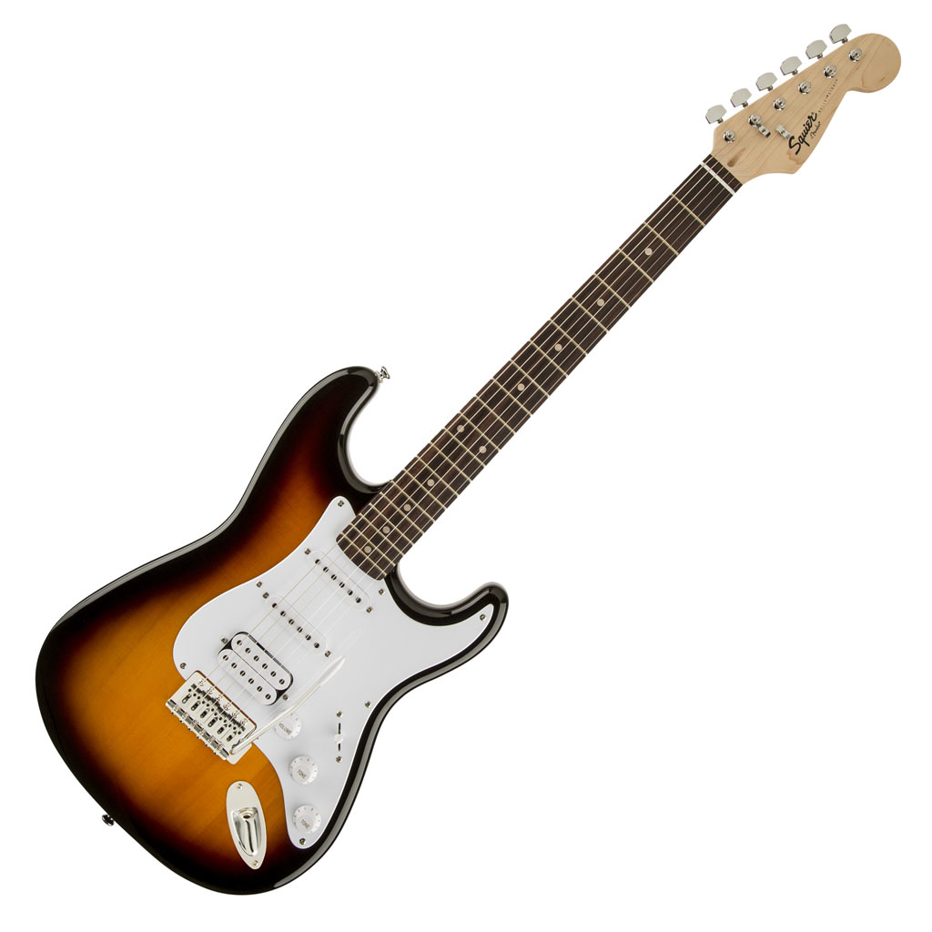 Squier Bullet® Stratocaster® with Tremolo HSS - Brown Burst - Bananas at Large