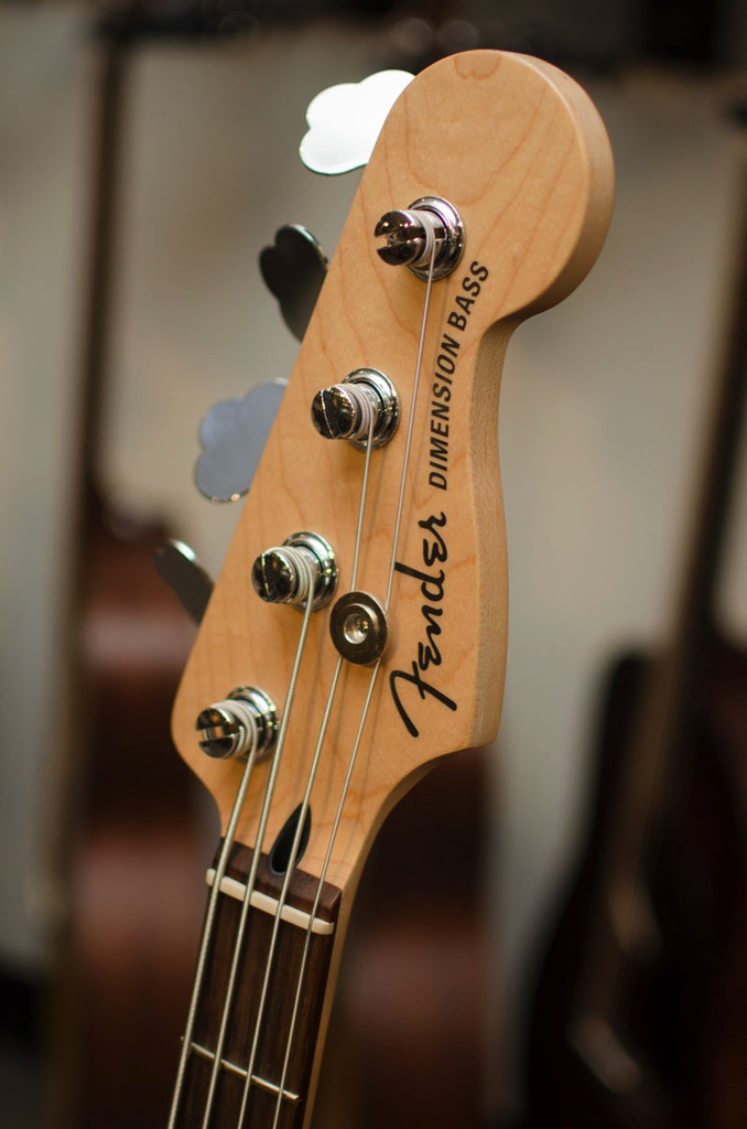 Fender Deluxe Dimension Bass IV with Rosewood Fingerboard - Aged Cherry Burst - Bananas At Large®