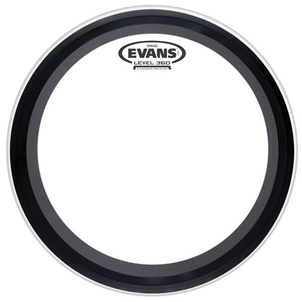 Evans TT16EMAD 16 in. Clear Bass Drum Head Tom Hoop Version - Bananas At Large®